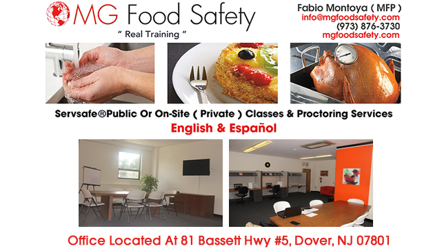 Private ServSafe Food Safety Classes Chester New Jersey